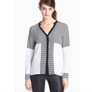 DVF Shelby print blouse