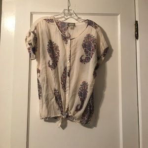 Lucky Brand Floral Paisley Top