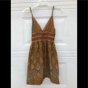 Free People Silk Dress Paisley Print EUC, no flaws
