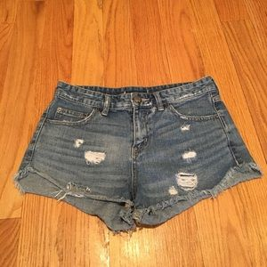 Free People high-waisted jean shorts