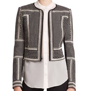 BcbgMaxazaria Duke Embroidered Jacket Black XXS