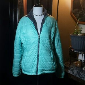 Large Mint Green Lightweight Puffer Jacket