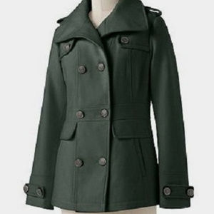 Apt. 9 Double Breasted Peacoat Olive Green NWT