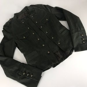Zara Woman Military Style Crop Jacket Small
