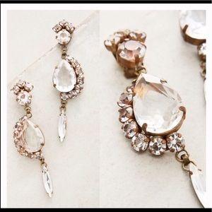 NEW Anthropologie Raffine Drops Crystal Earrings