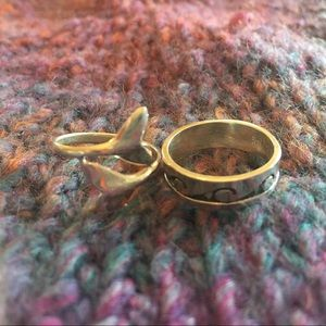 Set of 2 Silver Rings