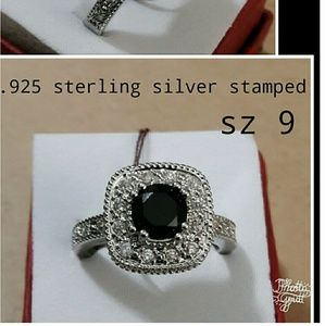 Size 9 .925 sterling silver stamped ring