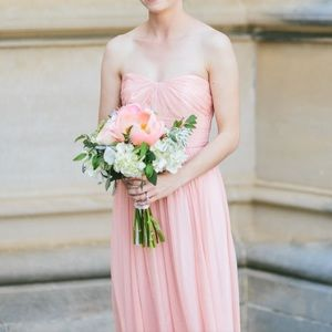 J Crew Blush Bridesmaid Dress