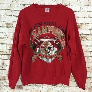 Vtg 80's San Francisco 49ers Super Bowl sweatshirt