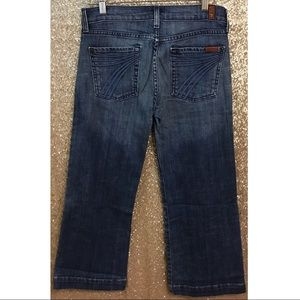 7 For All Mankind DOJO Cropped Jeans Sz 28 EUC