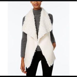 Ivory color cute Sherpa fur vest