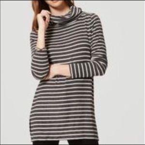 LOFT Striped Cowl Neck Tunic