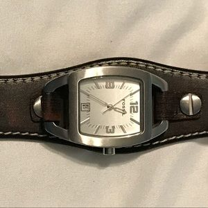 Women's Brown Leather Fossil Watch