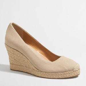 J.Crew canvas espadrilles Cream wedges heels