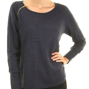 Tops - Woman's /Girls Navy thermal Knit top with zipper