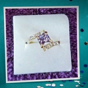 Purple Tanzanite 18kt gold filled Ring