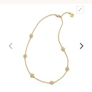 Authentic Tory Burch Logo Necklace