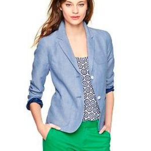 GAP Blue Mini Stripe Academy Blazer Jacket // 6