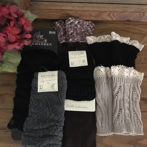 Cute!! Leg warmers. Ankle warmers and boot cuffs.