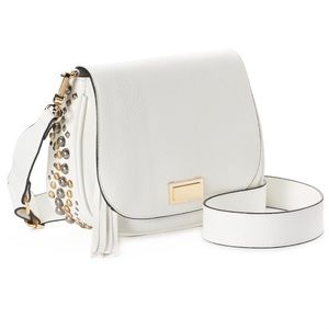 Juicy Couture Studded Crossbody Saddle Bag, White