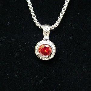 Ruby Swarkowski Crystal CZ Necklace