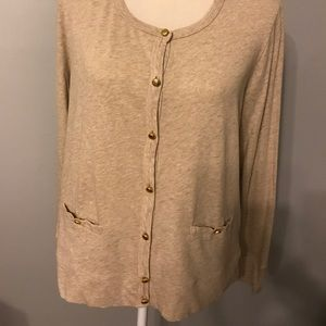 J. Crew Painter Crew Neck Cardigan.  Size XL.
