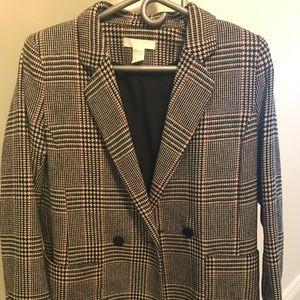 H&M Tweed Boyfriend Blazer