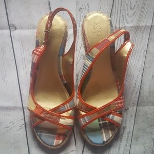 """J.Crew Flannel 3.5"""" Wedges"""