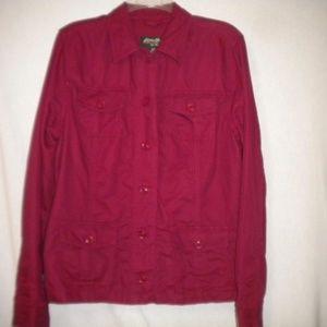 Eddie Bauer Women Size Large Red Jacket