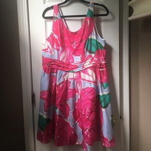 Vineyard Vines Silk Kentucky Derby Dress