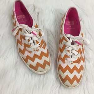 kate spade keds pink and orange chevron canvas 7