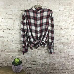 Zara plaid button down shirt