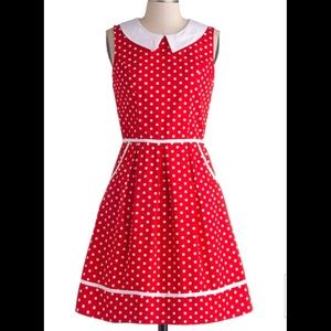 Modcloth vintage inspired polka dot dress! Size 3x