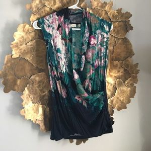 Anthropologie deletta wrap tank