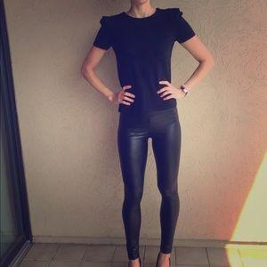 Pleather leggings