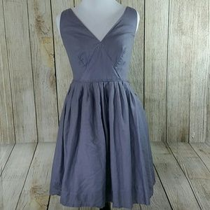J Crew Smoky Lilac Fit N Flare Pocketed dress