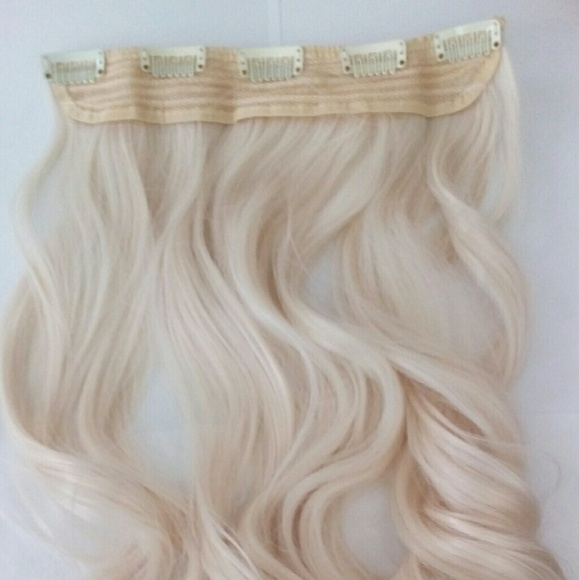 Platinum Blonde Clip In Hair Extensions Poshmark