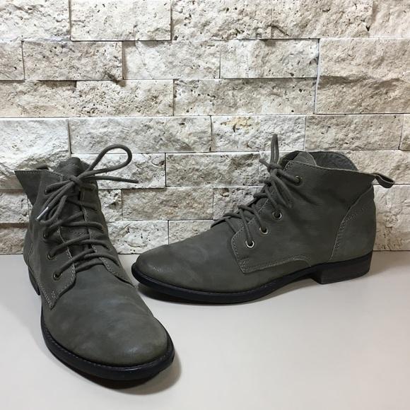 f9249760e62a SAM EDELMAN Mare Lace-Up Olive Desert Ankle Bootie.  M 59c27afc99086a193c00d550
