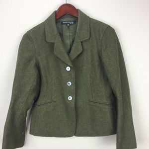 Anne Klein Military Style Wool Career Blazer