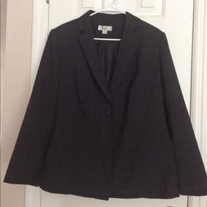 """Emily"" Women Navy Blue Striped Jacket. Size 16W."