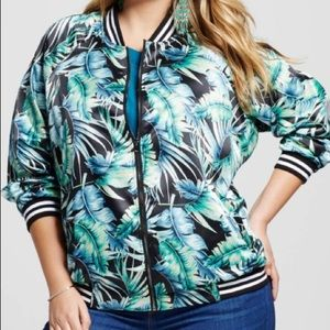 Ava & Viv Bomber Jacket Tropical  sz X