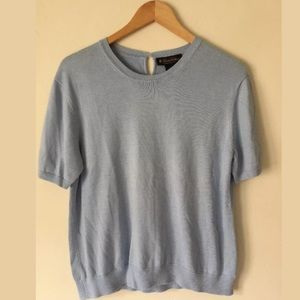 Brooks Brothers Silk Blend Sweater Light Blue XL
