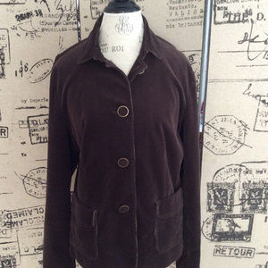 Talbots Brown Corduroy Jacket Size 16