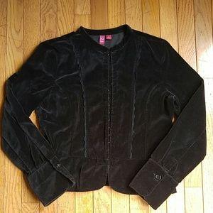 Black Velvet Blazer Jacket