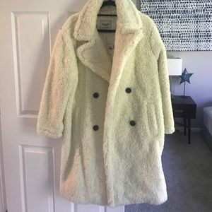 NWT Abercrombie & Fitch Cream Jacket / Coat XL