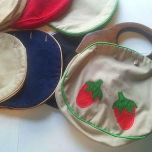 Vintage handmade interchangeable purse lot covers