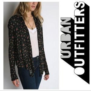 Urban Outfitters Ditsy Floral Hi Lo Cardigan S