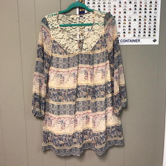 87ea22c6630f ILLA ILLA Dresses   Skirts - Boutique lace neck long sleeve Dress