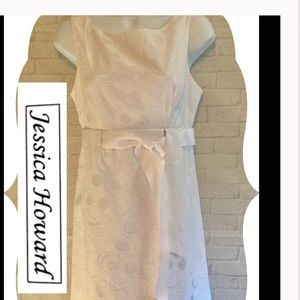 White dress Jessica Howard like new size 6 elegant