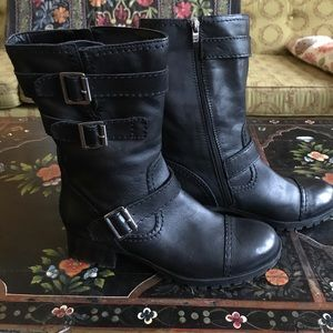 Shoes - Marc Fisher leather moto boots